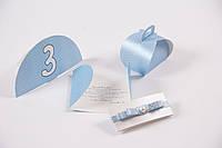 Свадебные пригласительные, голубые