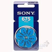 Батарейки Sony ZA312-6BL (PR312D6A) Zinc Air 1шт