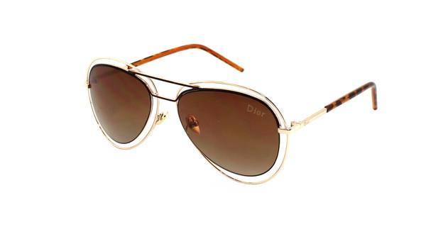 Очки модные женские солнцезащитные Aviator бренд Dior