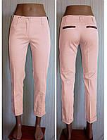 Летние женские брюки укроченные. Пудра.