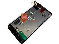 Модуль для Nokia 630 Lumia/ 635/ 636/ 638 (RM-974) Дисплей + тачскрин, чёрный, с передней панелью