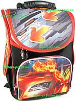 Рюкзак каркасный ортопедический школьный Машина Гонка + подарок