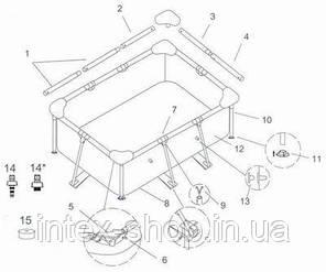 Каркасный бассейн Intex 28270 ( стар. артикул 58983) (220 x 150 x 60 см.), фото 2