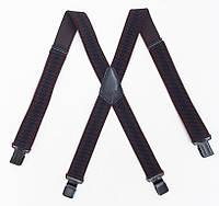 Широкие мужские подтяжки Paolo Udini коричнево-черные, фото 1