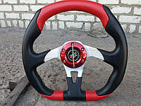 Руль универсальный №590 (красный)., фото 1