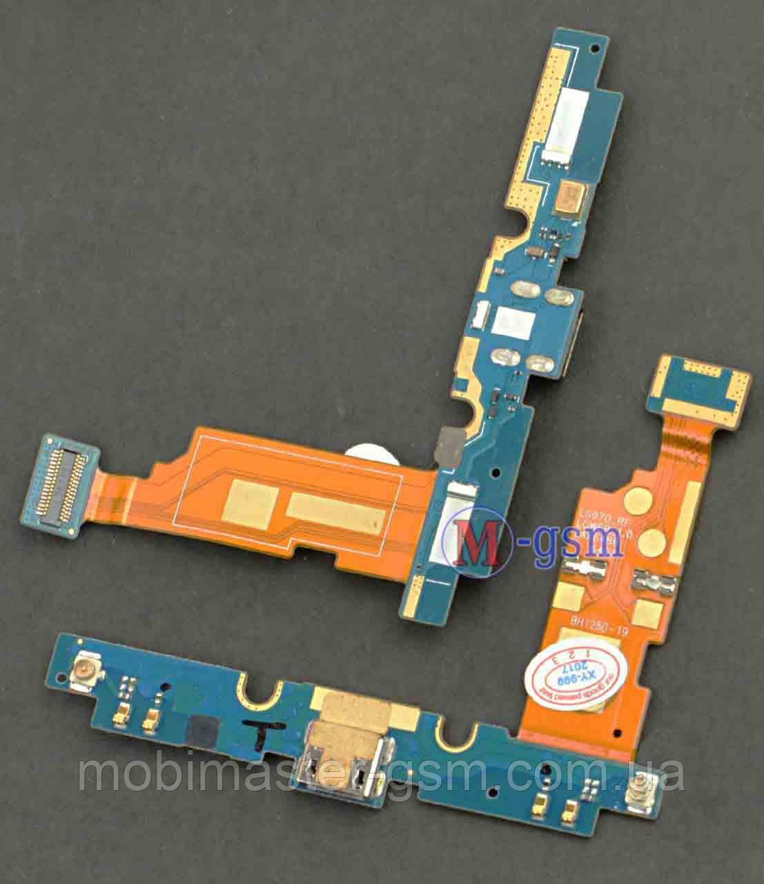 Шлейф LG E975 Optimus G с коннектором зарядки и компонентами