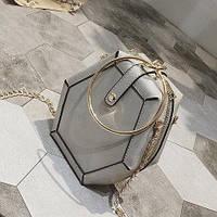 Женская сумка клатч/ новинка/ сумка через плечо /  женская сумка-кольцо