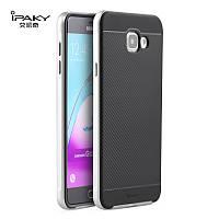 Чехол-накладка iPaky (OR) Carbon TPU + Bumper for Samsung A720 (A7-2017) Grey, фото 1