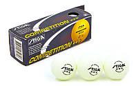 Набор мячей для настольного тенниса SGA 3 Star Competition MT-5943: 3 мяча в комплекте