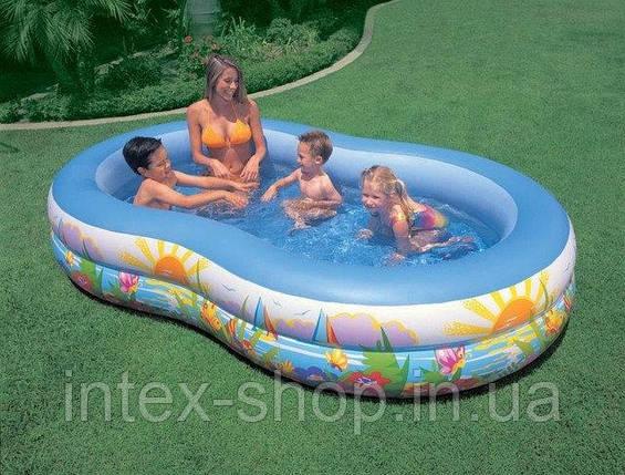 Бассейн детский надувной Райская Лагуна Intex 56490 (262х160х46 см)  Бассейн детский надувной Райская Лагуна I, фото 2