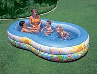Бассейн детский надувной Райская Лагуна Intex 56490 (262х160х46 см)  Бассейн детский надувной Райская Лагуна I