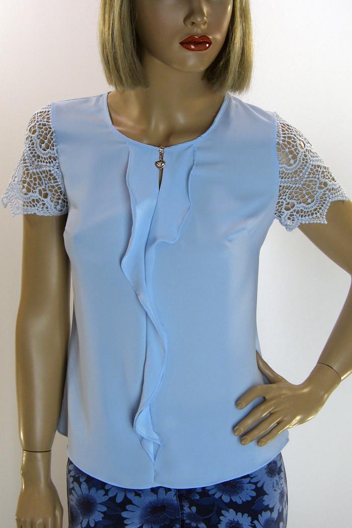 Блуза без рукава  шифон- атлас Esay