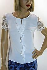 Блуза без рукава  шифон- атлас Esay, фото 2
