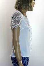 Блуза без рукава  шифон- атлас Esay, фото 3