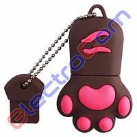 Подарочная Флешка USB 8Gb ElectroCom Cat Claw (Кошачий Коготь) 8, Коричневый