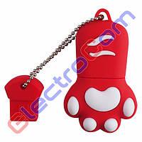 Подарочная Флешка USB 8Gb ElectroCom Cat Claw (Кошачий Коготь) 8, Красный