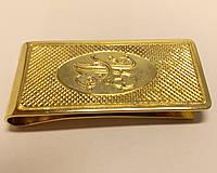 Золотой зажим для денег, 585 проба, вес 27,88.