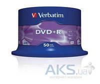 Диск Verbatim DVD+R  4.7Gb 16X CakeBox 50 шт (43550)