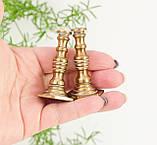 Коллекционная миниатюра, два миниатюрных подсвечникиа, латунь, Германия, фото 6