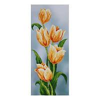 """Авторская канва ''Желтые тюльпаны"""" (Код: Т-0504)  30х70 см"""
