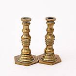 Коллекционная миниатюра, два миниатюрных подсвечникиа, латунь, Германия, фото 2
