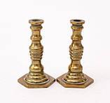 Коллекционная миниатюра, два миниатюрных подсвечникиа, латунь, Германия, фото 3