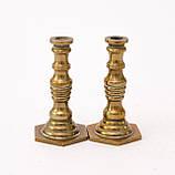 Коллекционная миниатюра, два миниатюрных подсвечникиа, латунь, Германия, фото 4