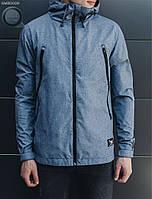 Весенне-осенняя куртка (ветровка) Staff - Melange blue Art . SME0009 (синий)