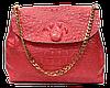 Женская сумочка из натуральной кожи под крокодила кораллового цвета GGD-826733