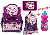 "Комплект. Рюкзак школьный каркасный Flower dream  K17-501S-1 + пенал + сумка, ТМ ""Kite"""