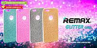 Силиконовый чехол  Remax Glitter Silicon Case iPhone 5 Pink