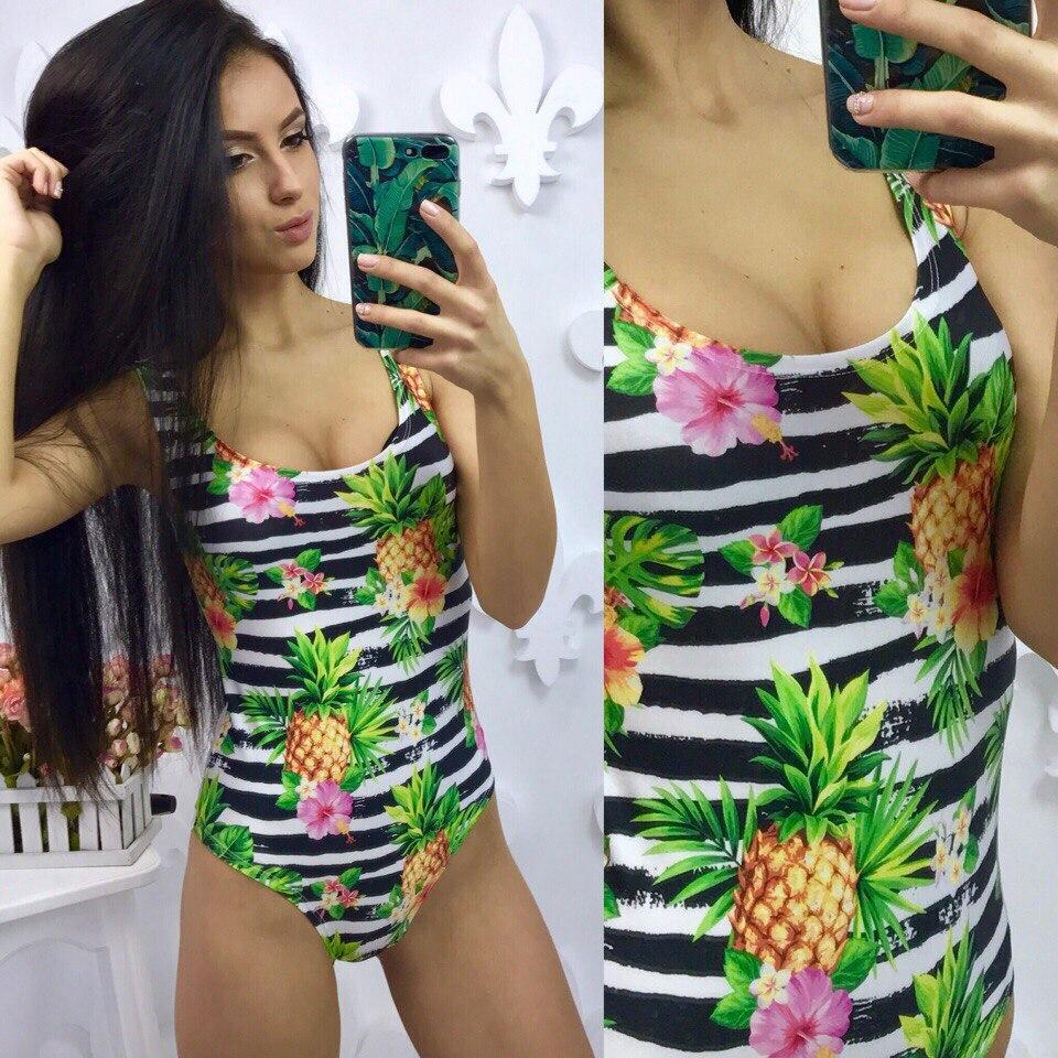 43dfe3d3548fe Слитный купальник с ананасами, цена 300 грн., купить в Одессе — Prom.ua  (ID#548374312)