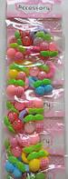 Детские резиночки (40штук)ягодки