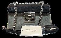 Стильная женская сумочка DAVID DJONES черного-серого цвета LLW-050290, фото 1