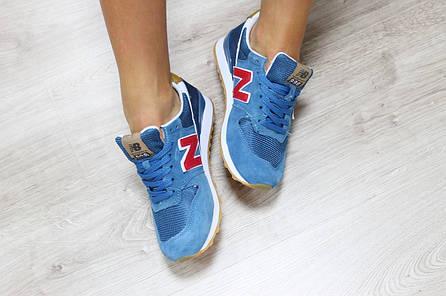 Женские кроссовки  New Balance 996 синие