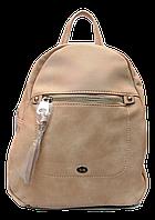 Женский рюкзак бежевого цвета из экокожи LFO-957754, фото 1