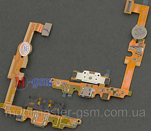 Шлейф LG E450 Optimus L5x, E460 Optimus L5 with charge connector and components, фото 2