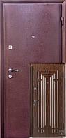 Дверь входная Модерн антик медь\орех темны DQ-45