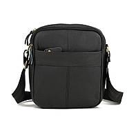 Компактная мужская кожаная сумка TB (00379) черная