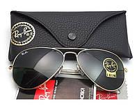 Мужские солнцезащитные очки в стиле RAY BAN aviator 3025 (L0205) Lux, фото 1