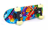 Скейтборд Mini в сборе(роликовая доска)SK-1705PP(колесо PVC, р-р деки 43*13см,608Z,пласт.подв)
