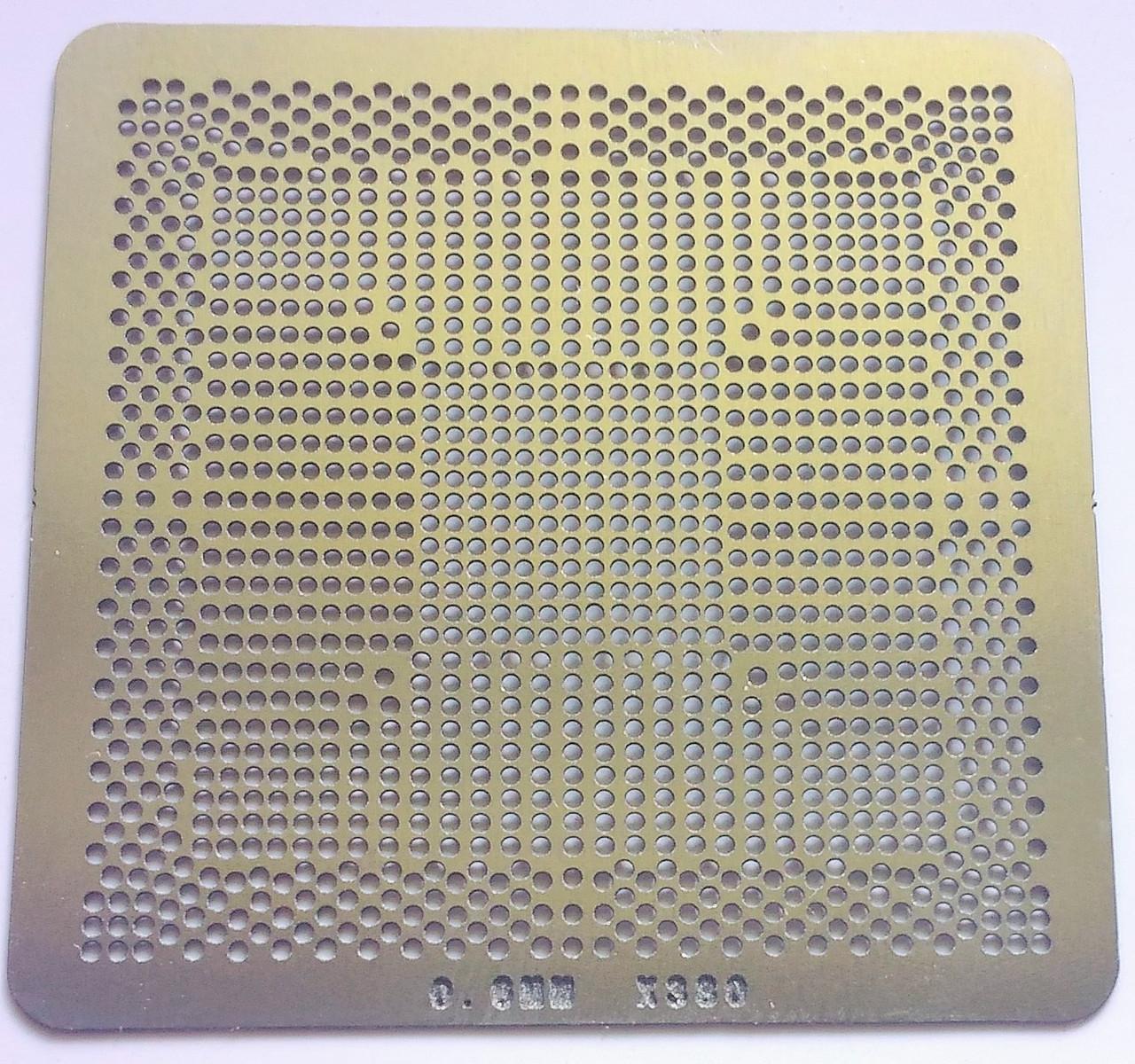 Трафарет BGA X380, x38, шар 0,6 мм