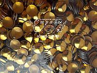 Металлостразы термо 10мм полусфера Gold 50 гросс