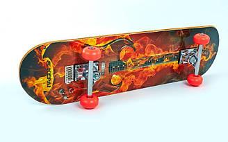 Скейтборд в сборе(роликовая доска)KEPAI SK-2061A(колесо PU, р-р деки 78*20*1см,ABEC-5)