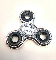 Спиннер металлический серебро