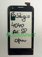 Сенсор (тачскрін) для Prestigio PAP4040MultiPhoneDUO  чорний