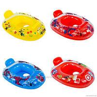 Надувной плотик для плавания  детский круг лодочка 6 видов