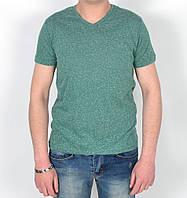 Мужская летняя футболка с мысиком - Однотон - Модель 144-27