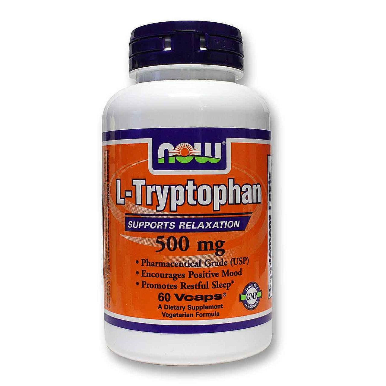 NOW Foods L-Tryptophan 500mg 60 caps
