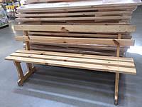 Деревянная скамейка, cадовая лавка. Украина.
